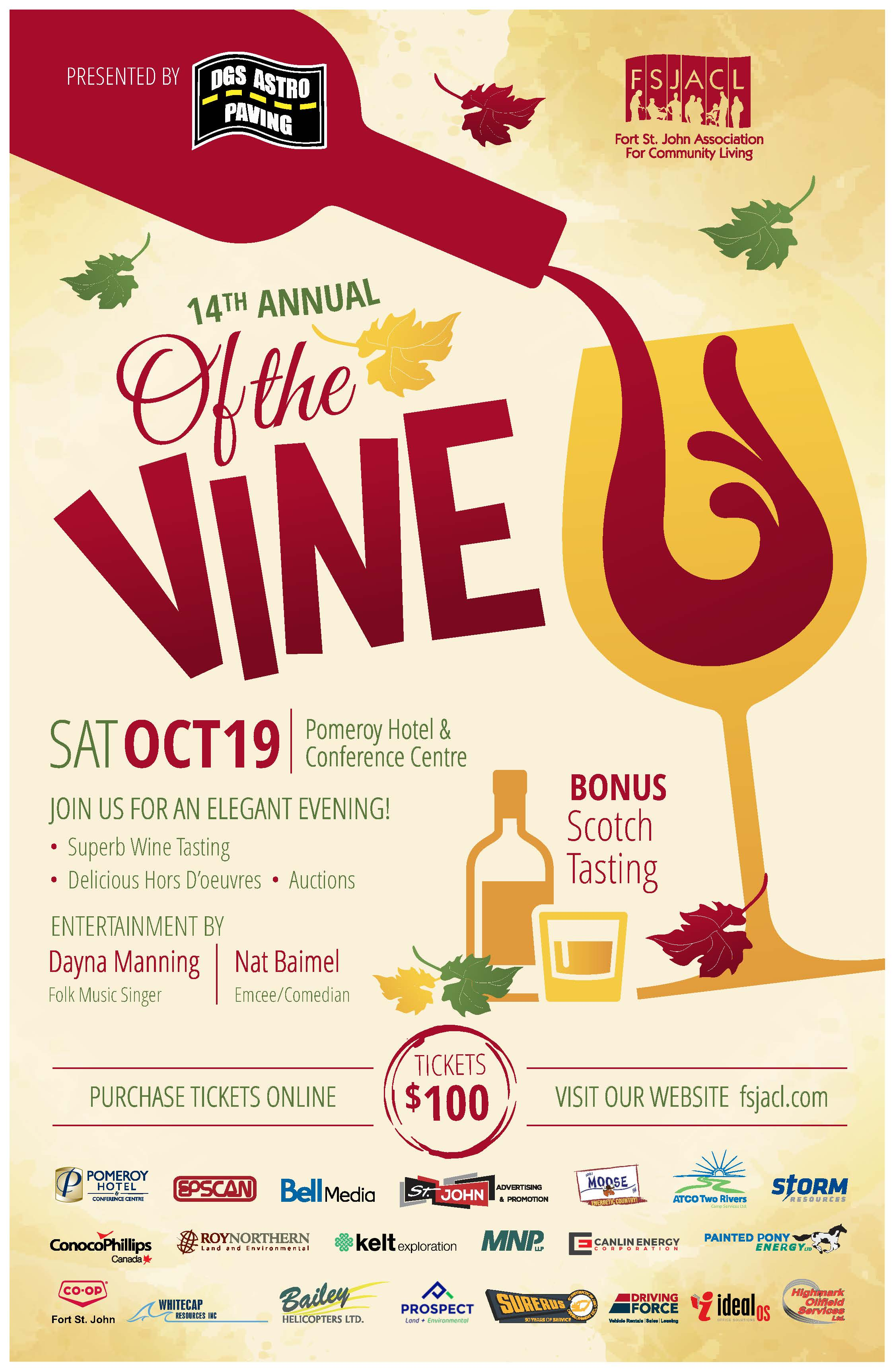 FSJACL Of the Vine 2019 11x17 Poster
